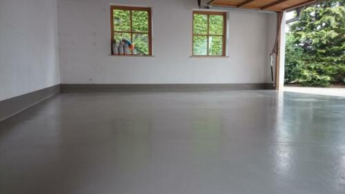 Garagenboden mit 2K-Beschichtung
