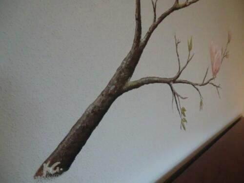 Magnolienzweig handgemalt