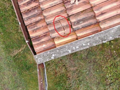 Dachziegel defekt