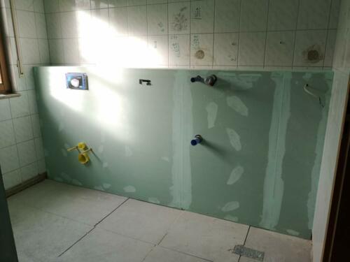 Vorsatzschalung Sanitär doppelt beplankt